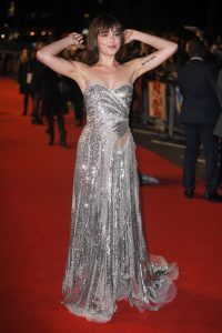 Dakota Johnson Proudly Shows Off Unshaven Armpits In Silver Gown